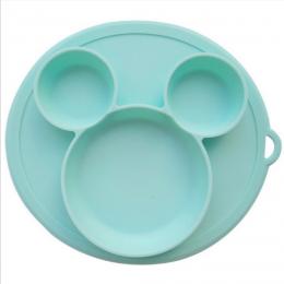 Silicone Snack Plate Sea Green