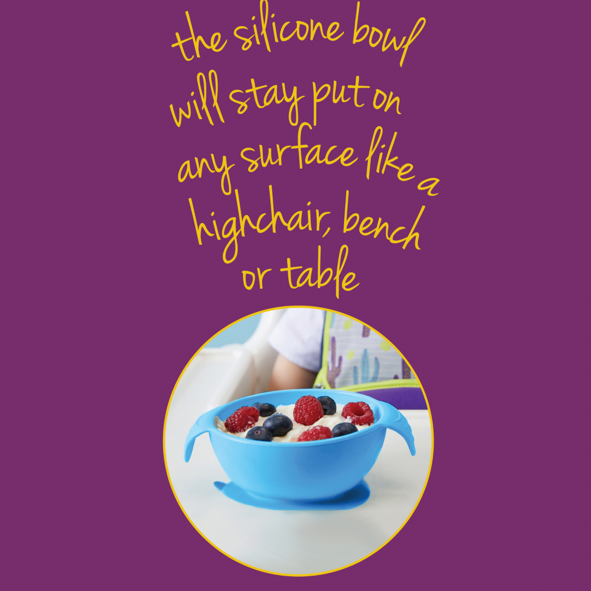 Silione First Feeding Bowl Set with Spoon - Lemon Sherbet Yellow Grey