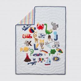 Snuggle Time Crib Gift Set - Alphabets-Blue