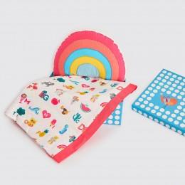 Snuggle Time Crib Gift Set - Alphabets-Pink