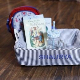 Stripes Basket - Baby Boy