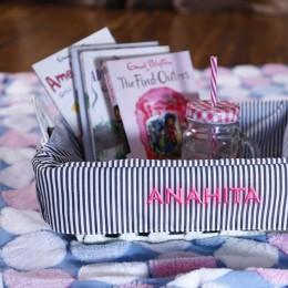 Stripes Basket - Baby Girl