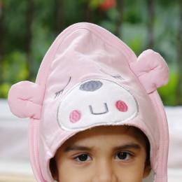 Teddy Love - Pink Hooded Towel