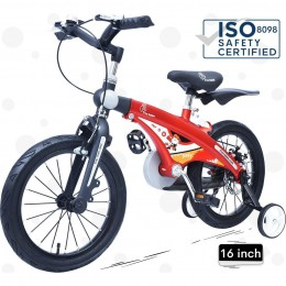 Tiny Toes Jazz Smart Plug and Play Kids Bicycle 16 inch/T for 4 to 7 years - Red Black