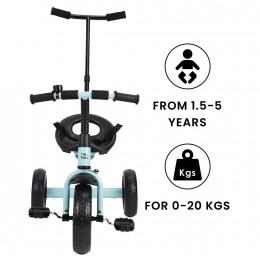 Tiny Toes Lite Baby Tricycle for Kids for 1.5 to 5 Years - Blue