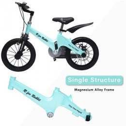 Tiny Toes Rapid The 14 inch Smart Plug and Play Bicycle for Kids - Blue
