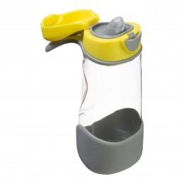 Tritan Sport Spout Drink Bottle 450ml - Lemon Sherbet Yellow Grey