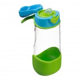 Tritan Sport Spout Drink Bottle 450ml - Ocean Breeze Blue Green