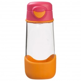 Tritan Sport Spout Drink Bottle 450ml - Strawberry Shake Pink Orange