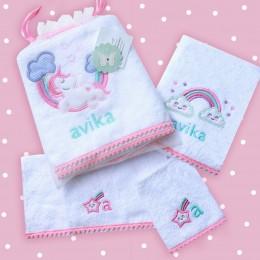 Unicorn Love - 4 Pc Baby Bath Collection