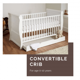 Victorian Cot And Baby Bed 3 in 1 - With Drawer Storage