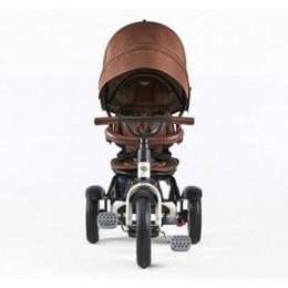 White Satin Trike Toddler Tricycle 6 in 1 Air Wheel Children Buggy Pram