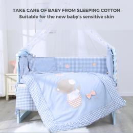 Baby Bear Crib Bedding 10 piece – Blue