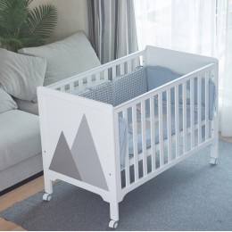 Baby Hill Crib Bed – White