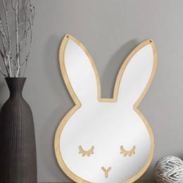 Bunny Shape Wall Hanging Mirror