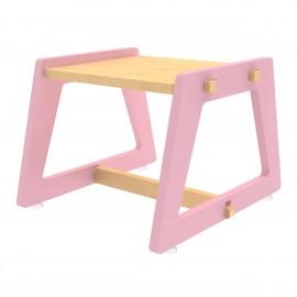 Charcoal Chikku Stool – Pink