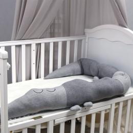 Crocodile Baby Crib Bumper Grey