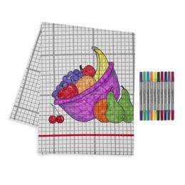 Doodle Table Cloth - Grid Print - Large