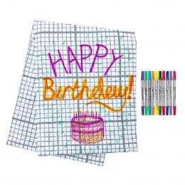 Doodle Table Cloth - Grid Print medium
