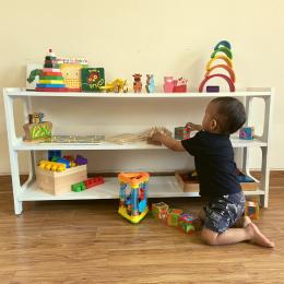 Freebirds Toy Shelf – White