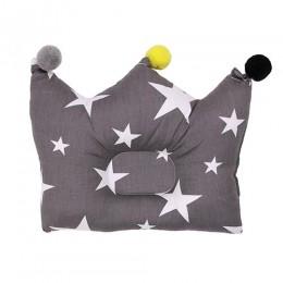 Grey Starry Night Crown Pillow
