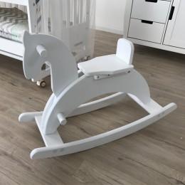 Kids Wooden Horse Rocker – White Colour