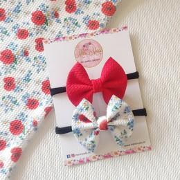 Poppy Sweetheart Bow Headband Set