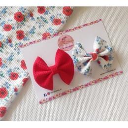 Poppy Sweetheart Bow Set