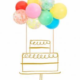 Rainbow Balloon Cake Topper