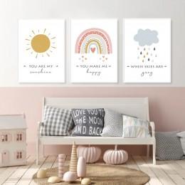 Rainbow Cloud Sun Canvas Posters