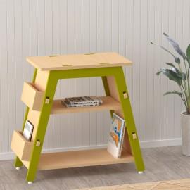 Red Pear Book Display Shelf – Green
