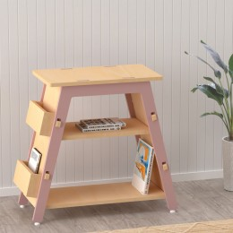 Red Pear Book Display Shelf – Pink