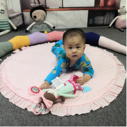 Round Padded Playmat Pink