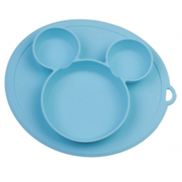 Silicone Snack Plate Blue