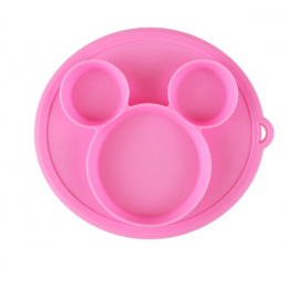 Silicone Snack Plate Pink