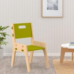 Silver Peach Chair – Green