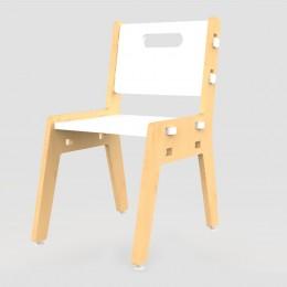 Silver Peach Chair – White