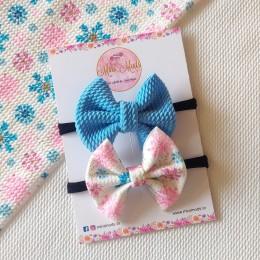 Snowflake Sweetheart Bow Headband Set