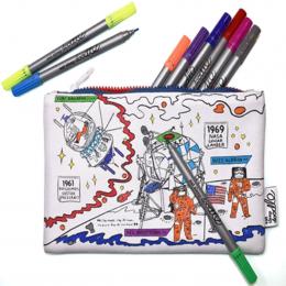 Space Explorer Pencil Case