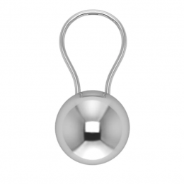 Sterling Silver Ball Baby Rattle
