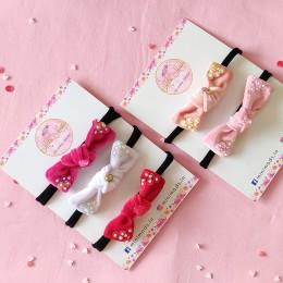 Velvety Sequins Knot Bow Headband Set