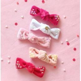Velvety Sequins Knot Bow Set