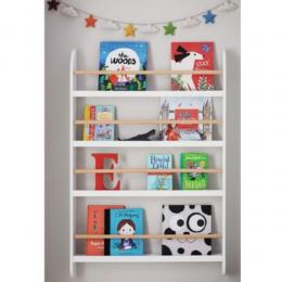 Wall Mounted Bookshelf – White