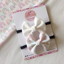 Watercolour Sweetheart Bow Headband Set