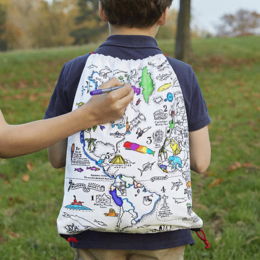 World Map Backpack - Color In And Learn