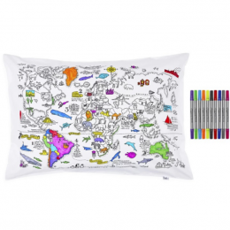 World Map Pillowcase