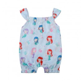 Mermaid Girl's Romper