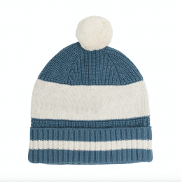 Aviation Blue Chunky Cotton Knitted Personalized Beanies