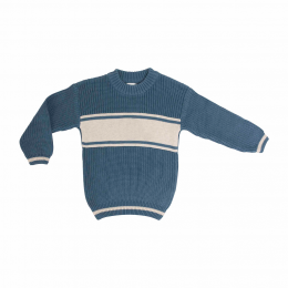 Aviation Blue Chunky Personalized Knitted Jumper