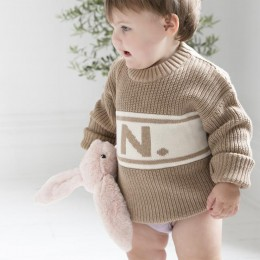 Camel Chunky Personalized Knitted Jumper